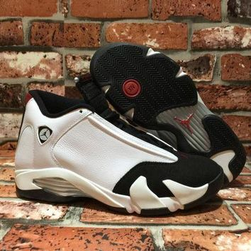 DCCK Air Jordan 14 ¡°Black Toe' 487471-102 Sneaker US 8-12