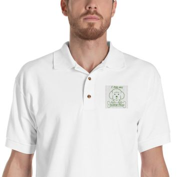 Dog Lovers Embroidered Polo Shirt
