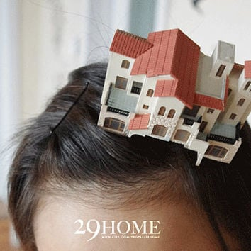 city house vintage hairpin jewelry for her gift 50
