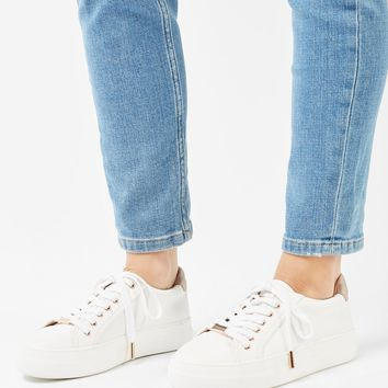 CRYSTAL Flatform Lace Up Trainers | Topshop