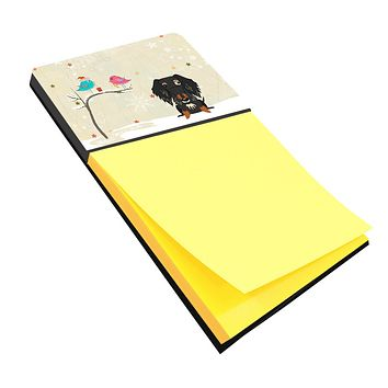 Christmas Presents between Friends Wire Haired Dachshund Dapple Sticky Note Holder BB2600SN