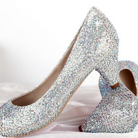 New Shoes Woman 2013 Rhinestone Red Sole Bride Crystal Shoes, Great Shoes for Wedding! Woem Pumps with Colors for Choosing!!