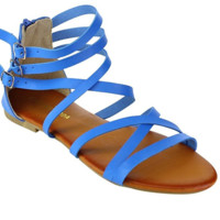 Gladiator Sandals Summer Style Flats Shoes.