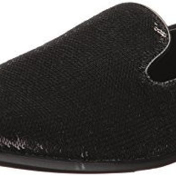 GIORGIO BRUTINI MENS COVERT SLIP-ON LOAFER, BLACK, 10.5 US/10.5 M US