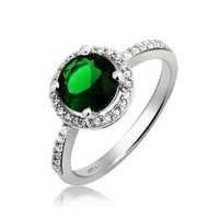 Bling Jewelry Green Goddess Ring