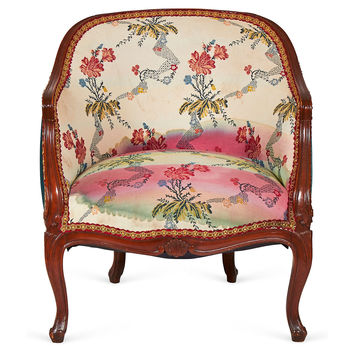 Barrel-Back  Chair, Accent Chair, Easy Chair