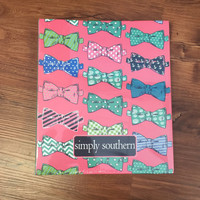 Simply Southern Notebook with Paper- Bowtie