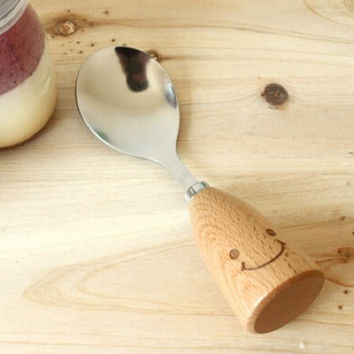 Wood Smiling Face Spoons