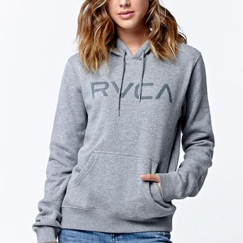 RVCA Raised Fleece Pullover Hoodie - Womens Hoodie - Grey