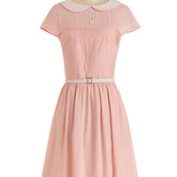 Bea & Dot Vintage Inspired Long Short Sleeves A-line Confectioner's Dream Dress