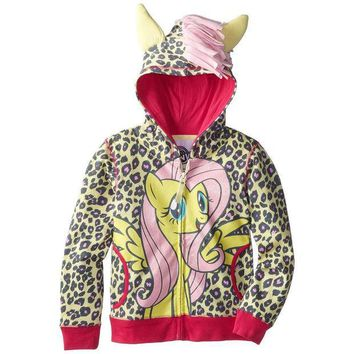 PEAPGQ9 My Little Pony - Fluttershy Front Girls Youth Costume Zip Hoodie