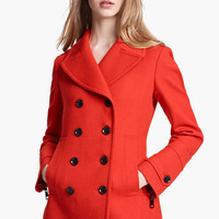 Burberry Brit 'Fenstead' Double Breasted Wool Peacoat | Nordstrom