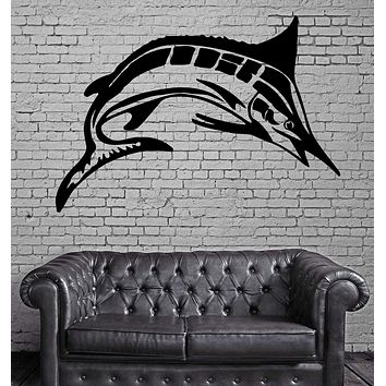 Marlin Fish Fishing and Hunting Hobby Decor Wall Mural Vinyl Art Sticker Unique Gift M328
