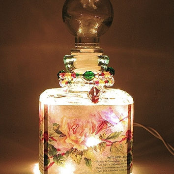 Rose Whisper Perfume Bottle Nightlight ( Night Light )