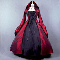 Court  Lolita Dress and the United States and Europe retro Gothic long sleeve dress cos ball witch long dress