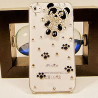 iphone 5 case, iphone 4s case, iphone 4 case - jewel panda iphone 5 cover case