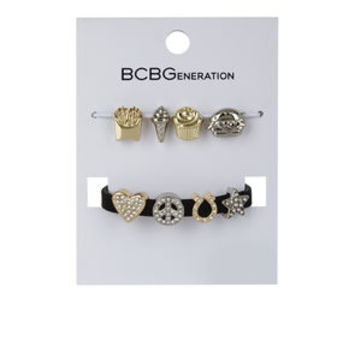 Custom Affirmation Foodie Charm Kit in White/Black - BCBGeneration
