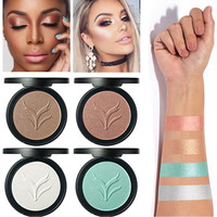 HUAMIANLI Brand Shimmer Bronzer Contouring Makeup Brighten Face Glow Powder White Gold Highlighter Palettes Makeup Kit