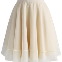 Turely Tulle A-line Skirt in Apricot