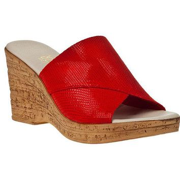 VONEW3J Onex Christina 2 Red Iguana Sandals