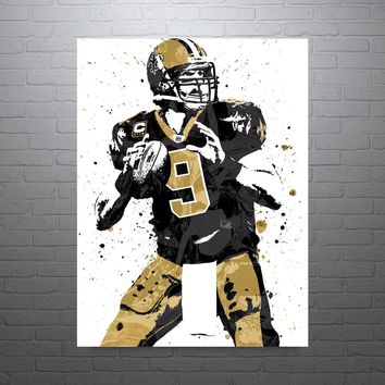 Drew Brees New Orleans Saints Poster