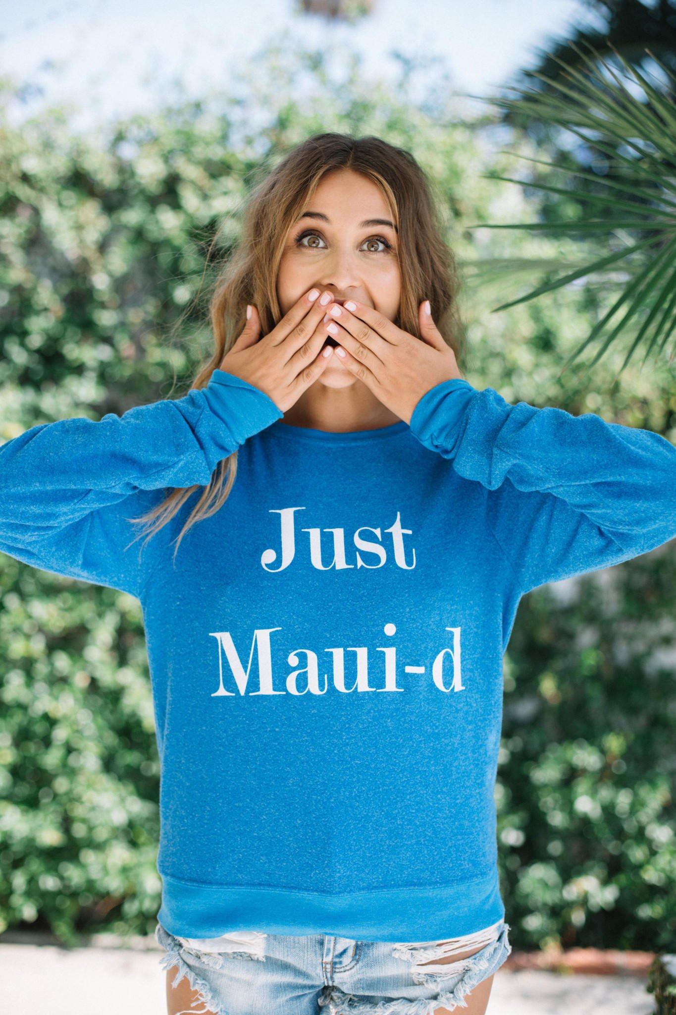2456a92285 Wildfox || Just Maui-d baggy beach jumper in honeymoon blue. Save Sold
