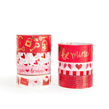 Valentine's Day Be Mine Washi Tape Tube By Recollections™