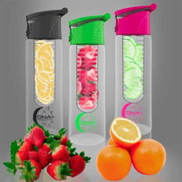 24oz. Fruit Infuser Water Bottle (Combo Pink, Green, and Black)