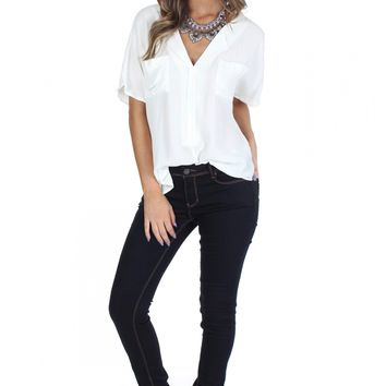 Low Rise Dark Skinny Jeans