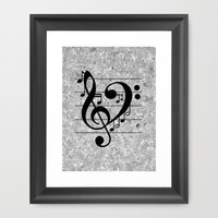Love Music Framed Art Print by Richard Casillas | Society6