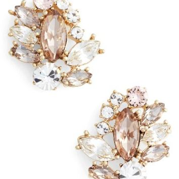 Marchesa Sheer Bliss Cluster Button Earrings | Nordstrom