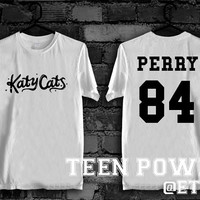 Katy Perry Shirt Katy Cat Logo and Perry 84 T-Shirt Unisex  High Quality. Worldwide Shipping S-XL