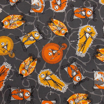 Nightmare Before Christmas Fabric Halloween Fabric Jack Skellington Fabric Holiday Fabric By the Yard Fabric Cotton Fabric Craft Fabric