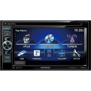 "Kenwood - 6.1"" - DVD - Apple® iPod®- and Satellite Radio-Ready - In-Dash Receiver - Black/Gray"