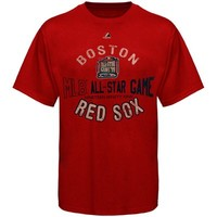 Majestic Boston Red Sox Cooperstown Band of Sluggers T-Shirt - Red