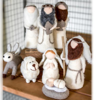 (Set of 8) Felt Nativity