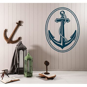 Vinyl Decal Wall Sticker Nautical Marine Sailing Anchor and Rope Unique Gift (n669)