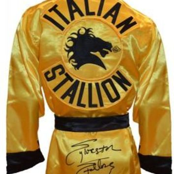 Sylvester Stallone Signed Autographed Rocky Italian Stallion Boxing Robe (ASI COA)