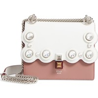 Fendi Small Kan I Crystal Stud Calfskin Shoulder Bag | Nordstrom