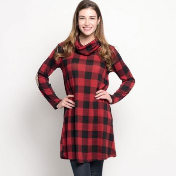 Holiday Plaid Tunic
