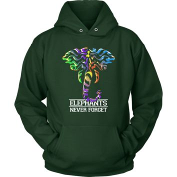 Elephants Never Forget Colorful Hoodie
