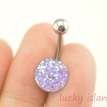 bellybutton ring,purple sparkling belly button jewelry,sparkling belly button rings,wonderful navel ring,girlfriend piercing bellyring