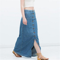 Long Jean Pencil Skirts