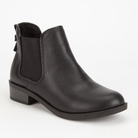 Soda Chelsea Girls Boots Black  In Sizes