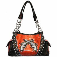 Orange guns purse