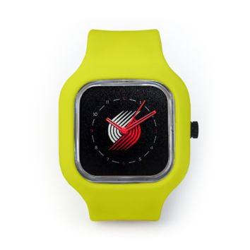 Portland Trail Blazers Watch in a Neon Yellow Strap