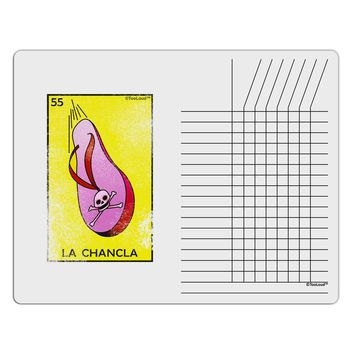 La Chancla Loteria Distressed Chore List Grid Dry Erase Board by TooLoud