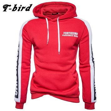 T bird 2017 Hoodies Men Letter Printing Men Hip Hop Sweatshirt Winter Fashion Brand Hoodie Men'S Sportswear Male Women Pullover