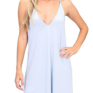 Basic V-Neck Strappy Dress
