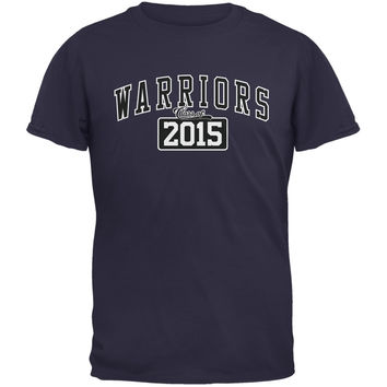 Graduation - Warriors Class of 2015 Navy Adult T-Shirt